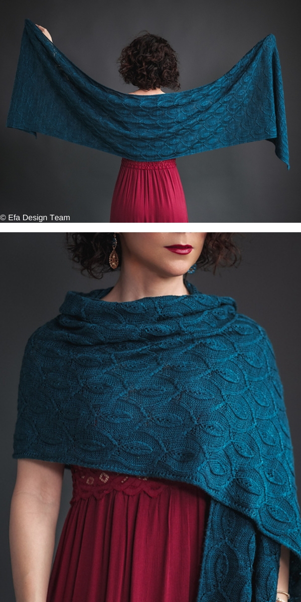 Ivy Lattice free knitting pattern