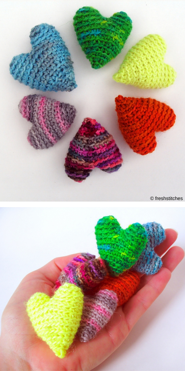 Valentine's Day Hearts, 3 sizes free crochet pattern