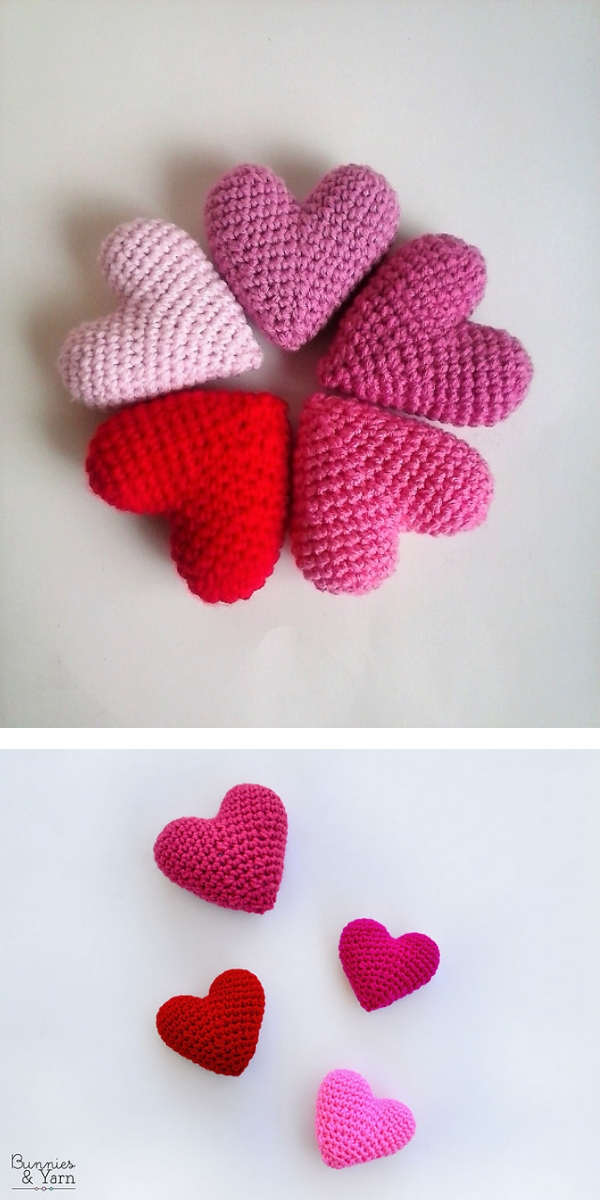 3D Hearts free crochet pattern