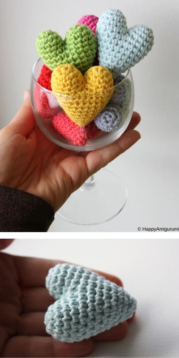 Amigurumi Heart free crochet pattern