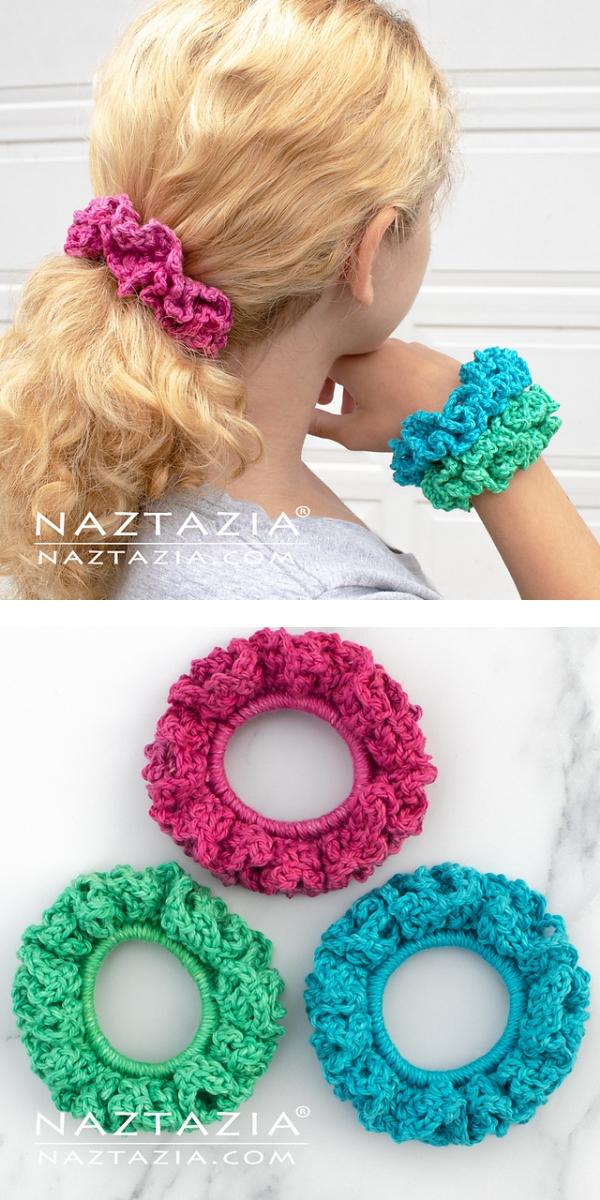 Funny Scrunchies free crochet pattern