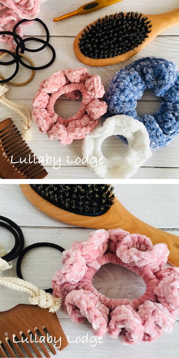 Velvet Scrunchies free crochet pattern