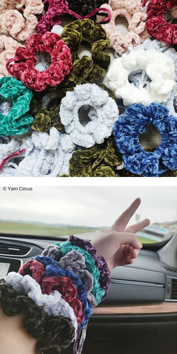 Quick & Easy Scrunchie free crochet pattern