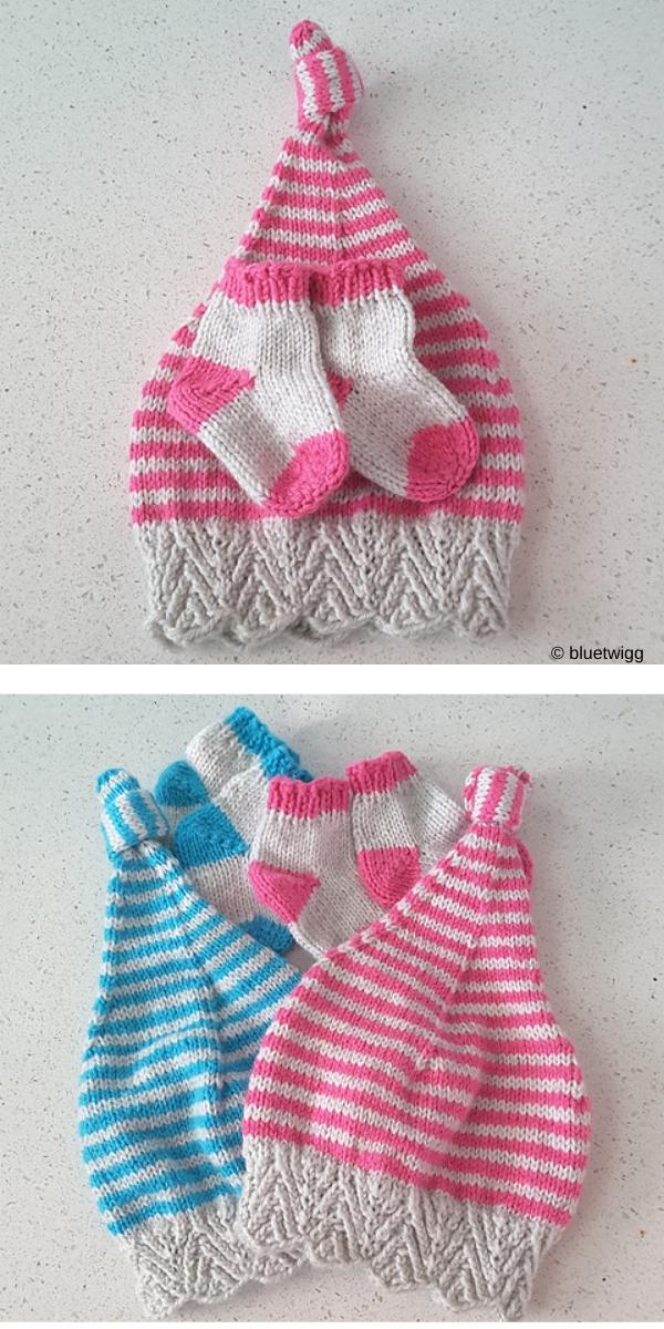 Toe Up Baby Socks free knitting pattern
