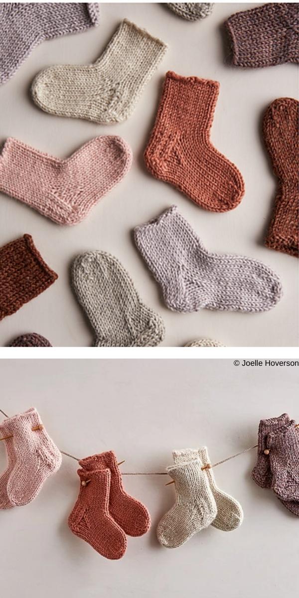 Baby Socks free knitting pattern