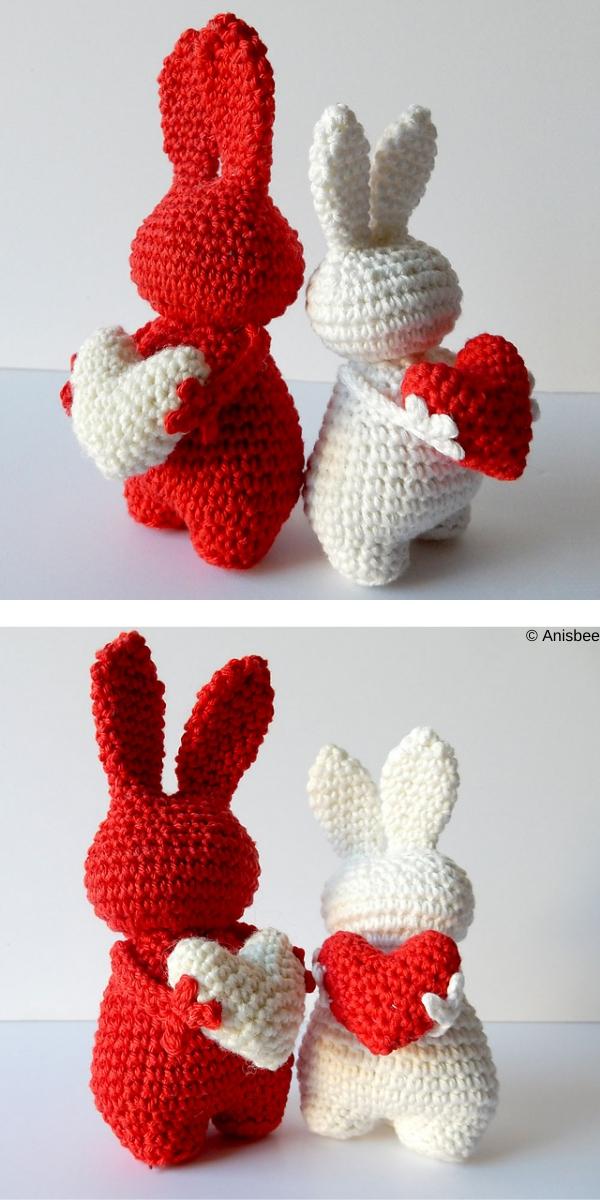 Valentines Day Amigurumi Set Free Crochet Pattern | DailyCrochetIdeas | 1200x600
