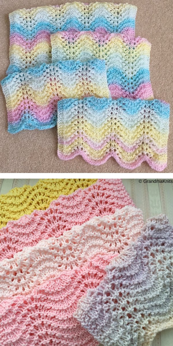 Janice's Easiest Ever Lacy Blanket free knitting patterns