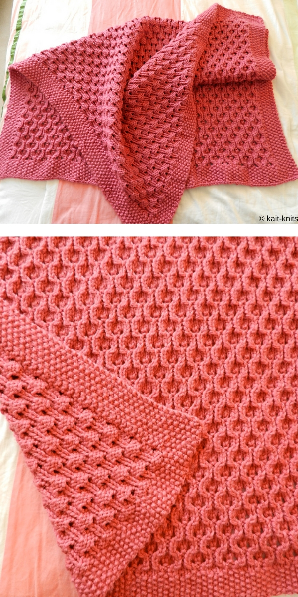 Child's Knitted Blanket free knitting pattern