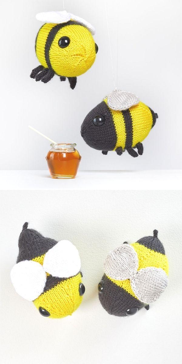 Buz and Belinda Knit Bumblebees