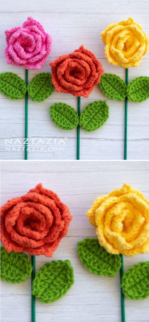 Rose Flower with Leaf