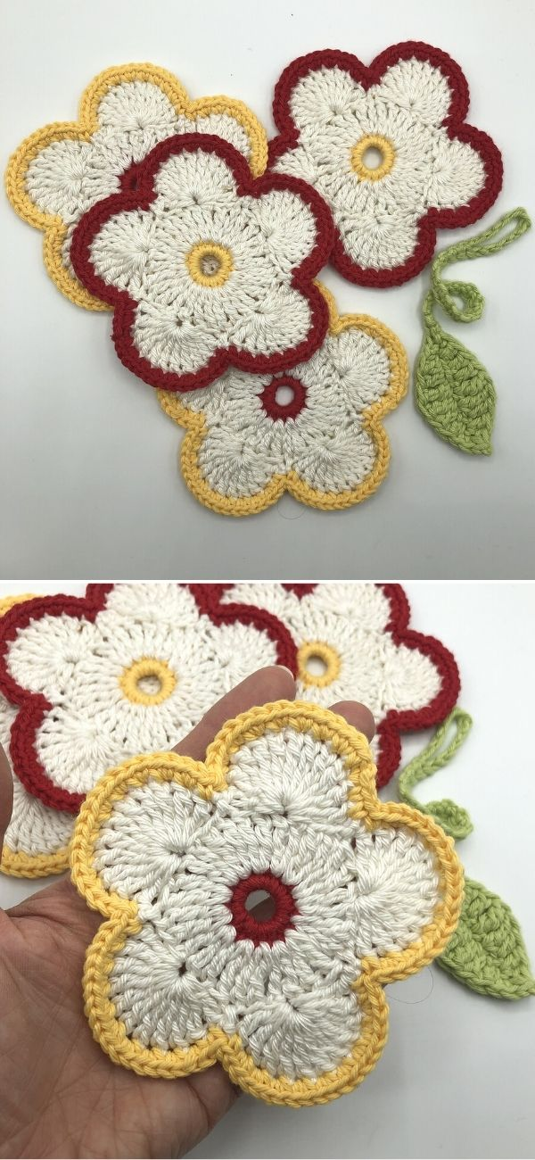 Treble Flower Coaster Set