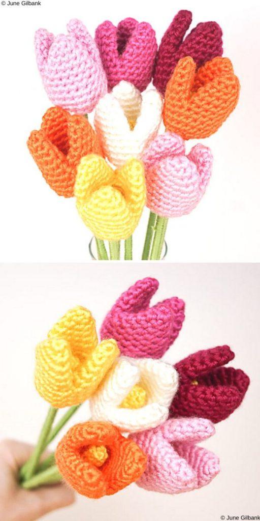 Tulips Free flowers Crochet Pattern