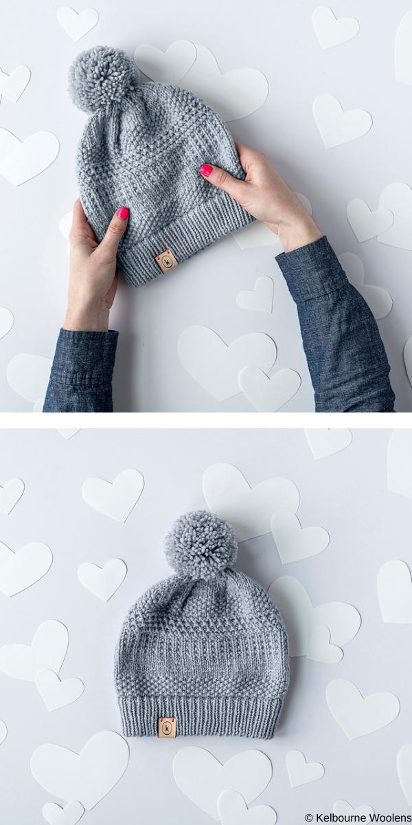 February Hat free knitting pattern