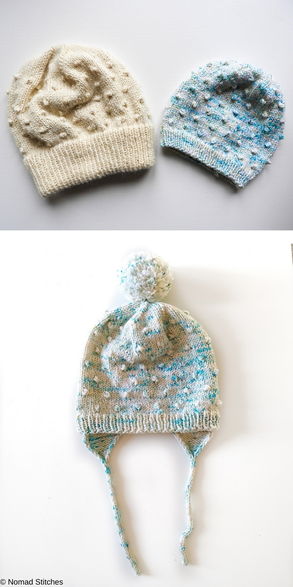 Dot dot dot Beanie free knitting pattern