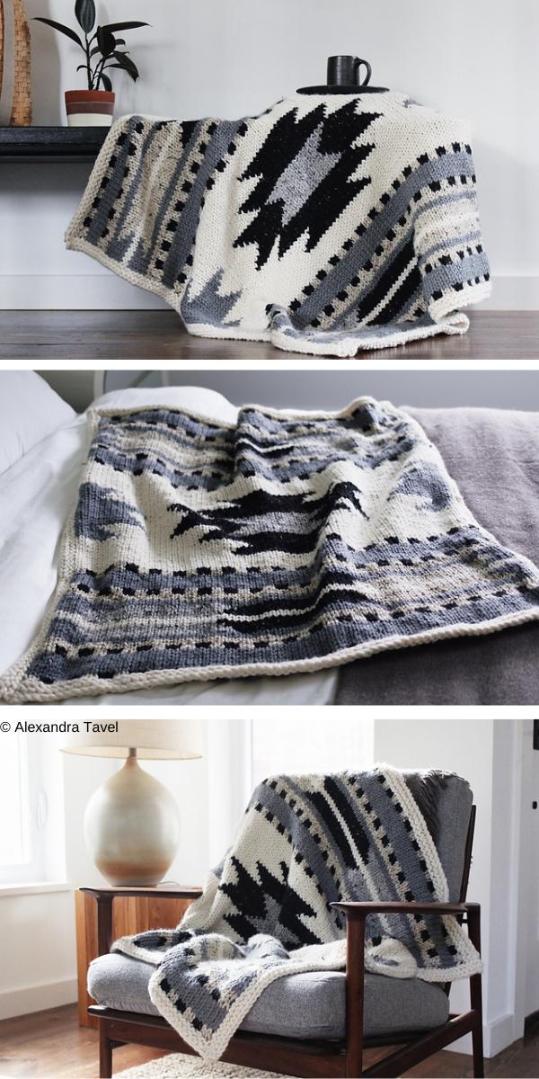 Taos Lap Blanket free knitting pattern