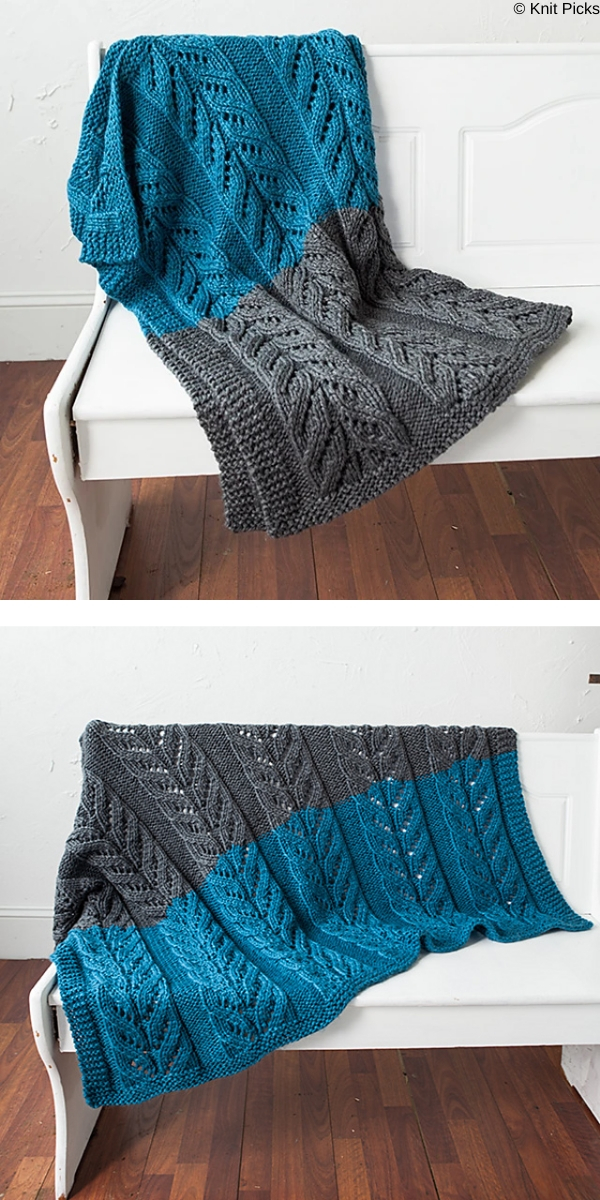 Premberly Blanket free knitting pattern