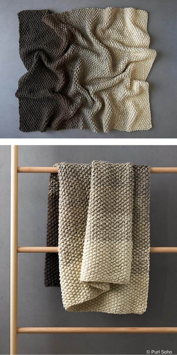 Big Good Wool Blanket free knitting pattern