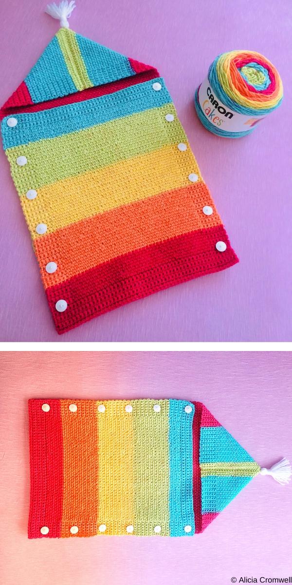 Promises Rainbow Baby Sleep Sack Free Crochet Pattern