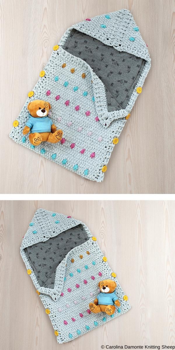 Candy Baby Sleeping Bag Free Crochet Pattern