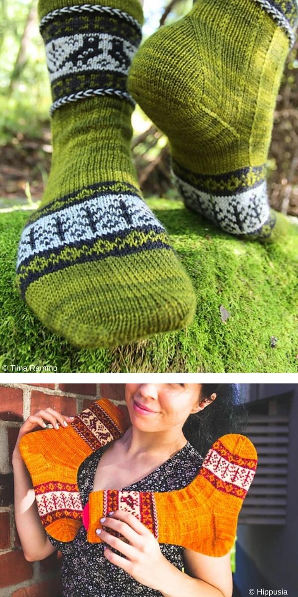 Kanteletar Socks free knitting pattern