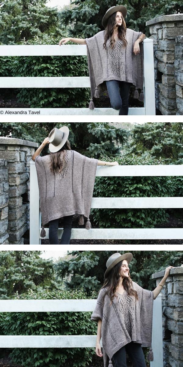 Caravan Poncho free knitting pattern