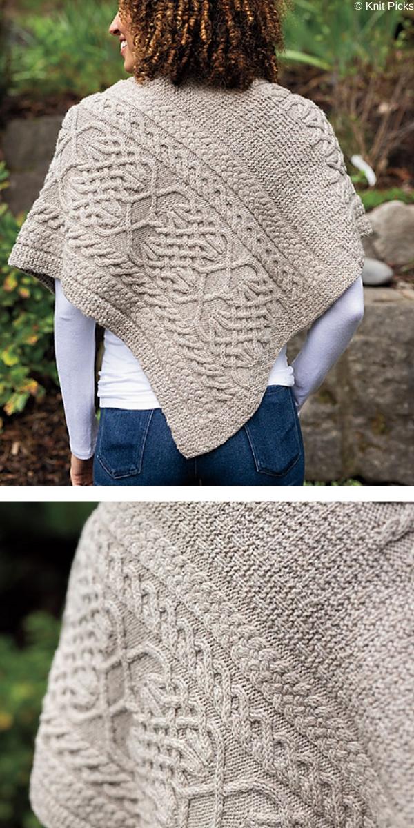 Lindisfarne Poncho knitting pattern
