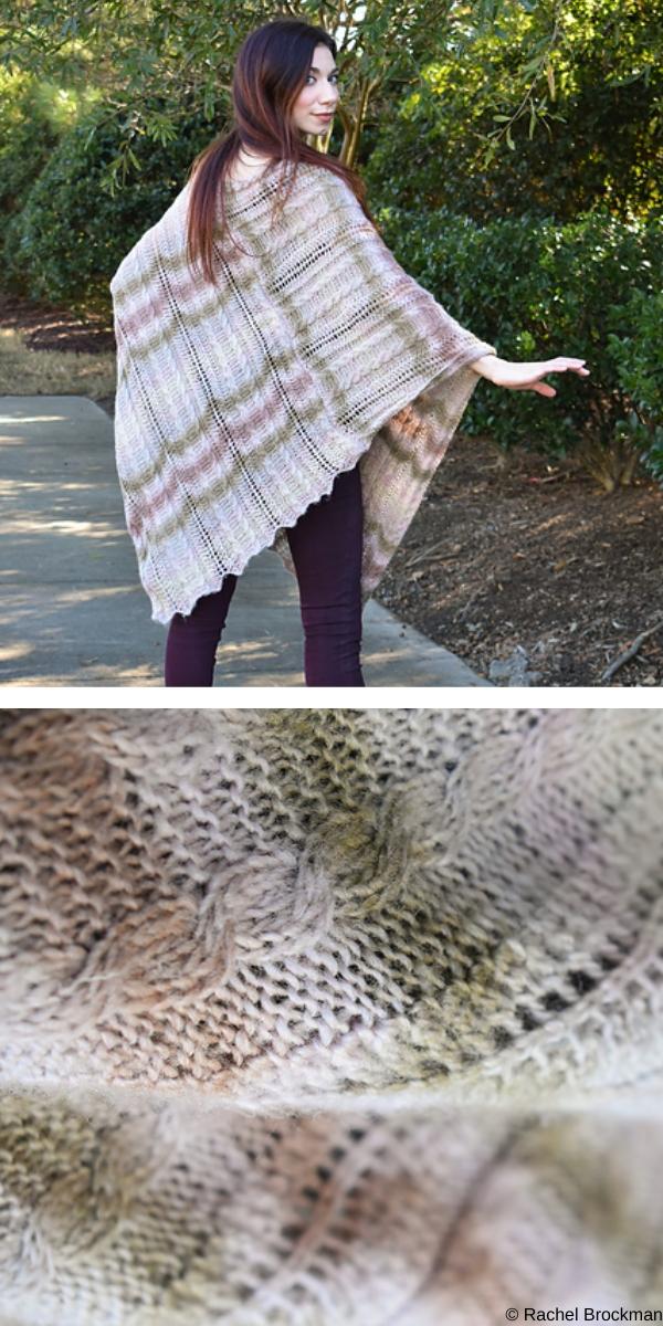 dusk poncho free knitting pattern