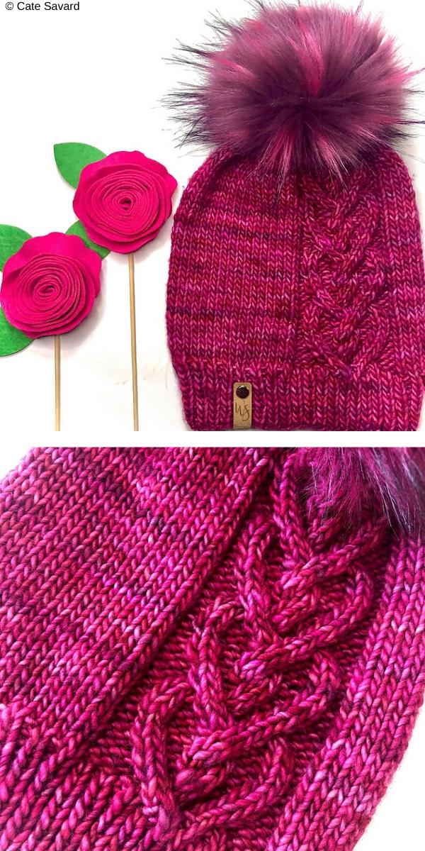 cariad hat knitting pattern