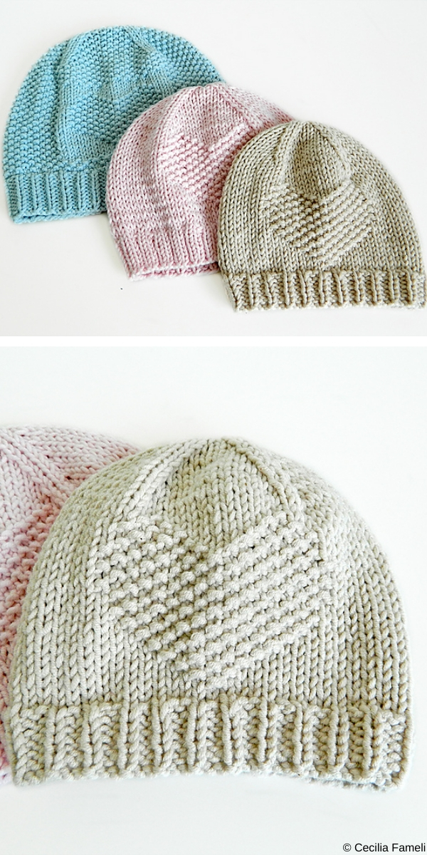 YOU ARE LOVED Baby Hat free knitting pattern