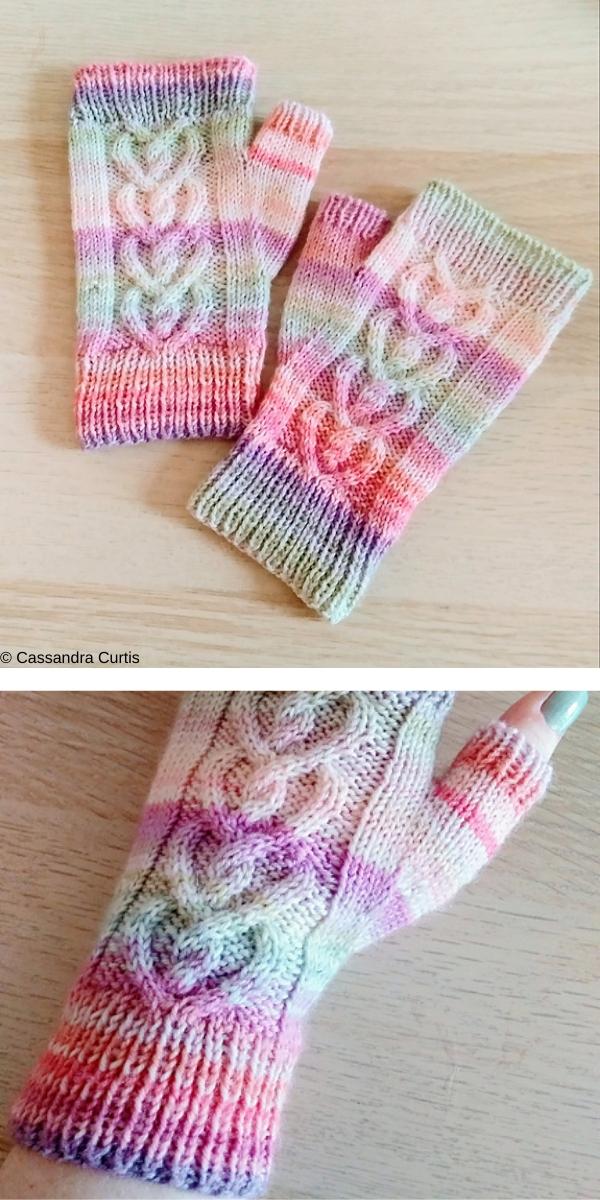 Love Bug Mittens free knitting pattern