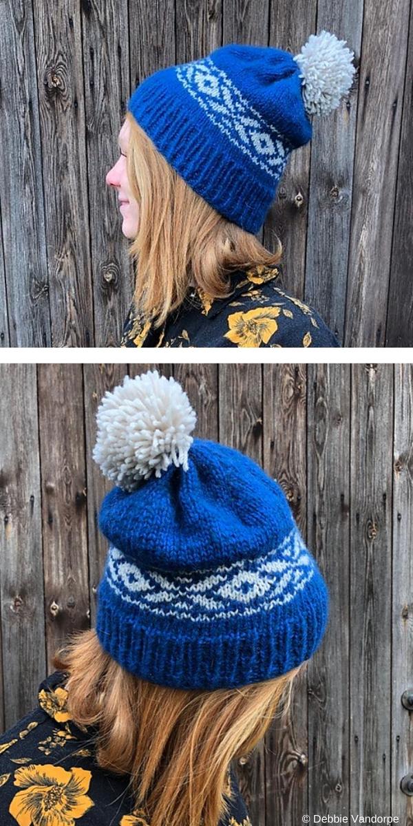 Lafette Hat Free Knitting pattern