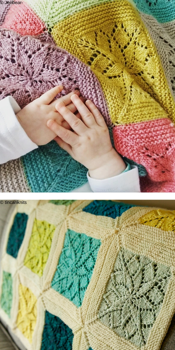 Vivid Square Blanket Knitting Pattern