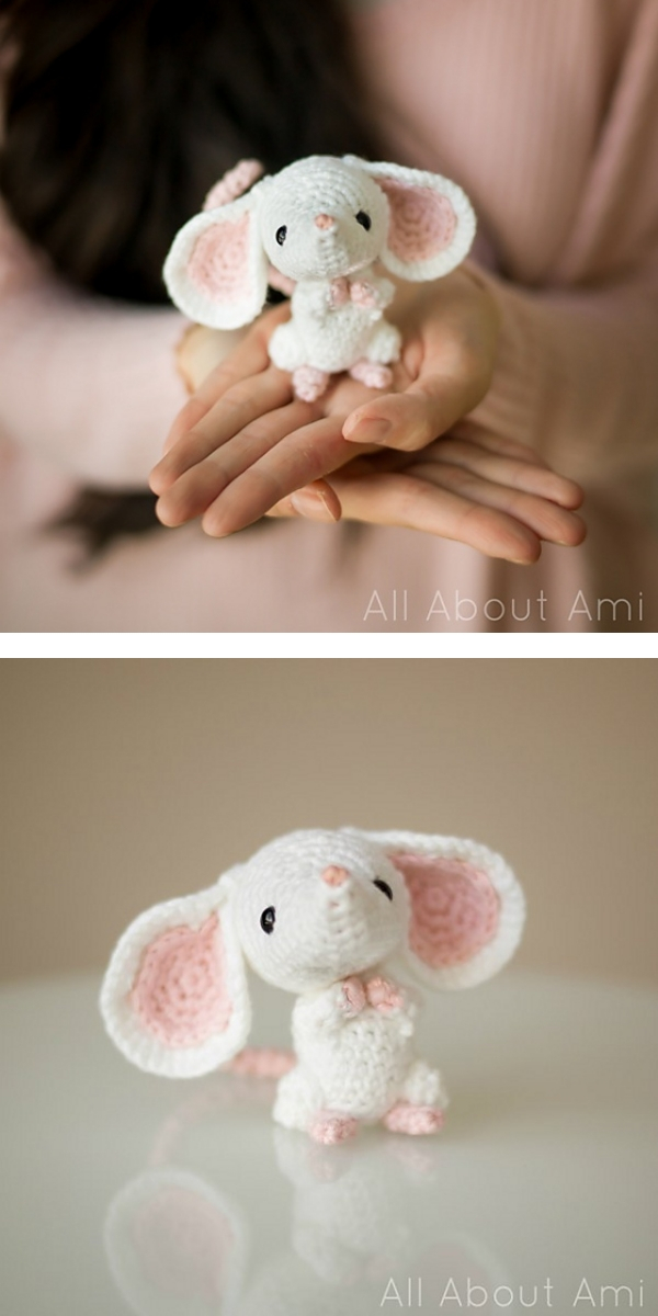 Crochet Amigurumi Mouse With Video Tutorial | 1200x600