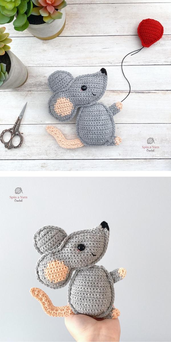 Mouse Amigurumi free crochet pattern