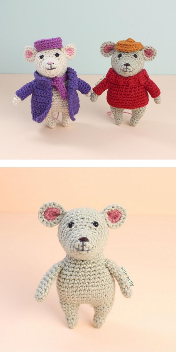 Valentine's Day Mice free crochet pattern
