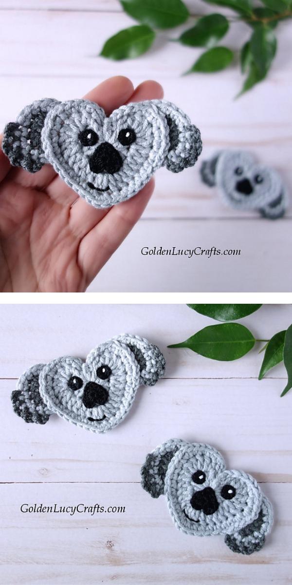 Koala applique Free crochet pattern