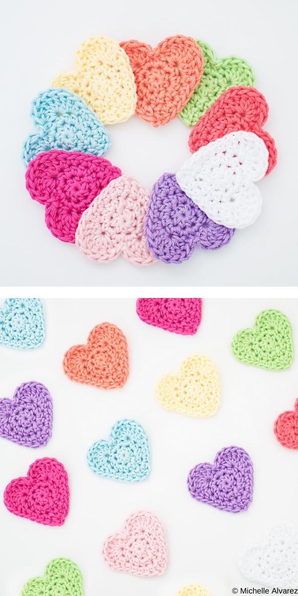 Heart Applique Free crochet pattern