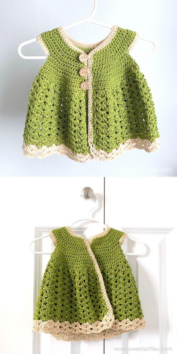 Baby Girl Meadow Cardigan Dress