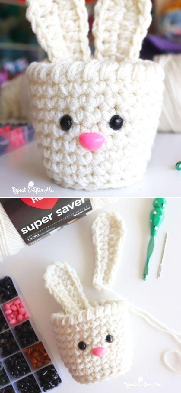 Bunny Crochet Cups