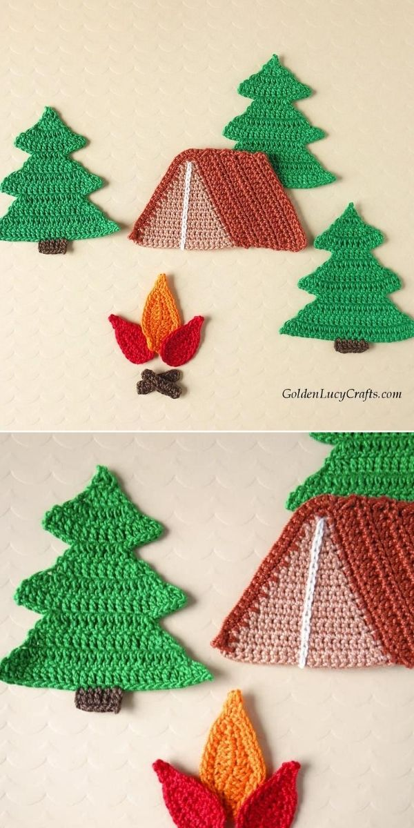 Camping Applique