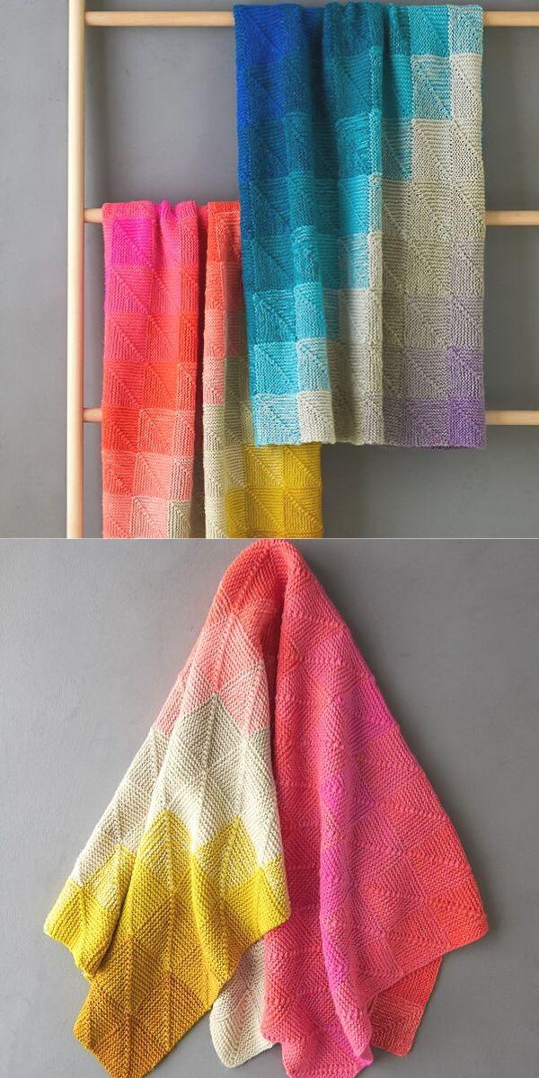 Colorful Wedges Baby Blanket