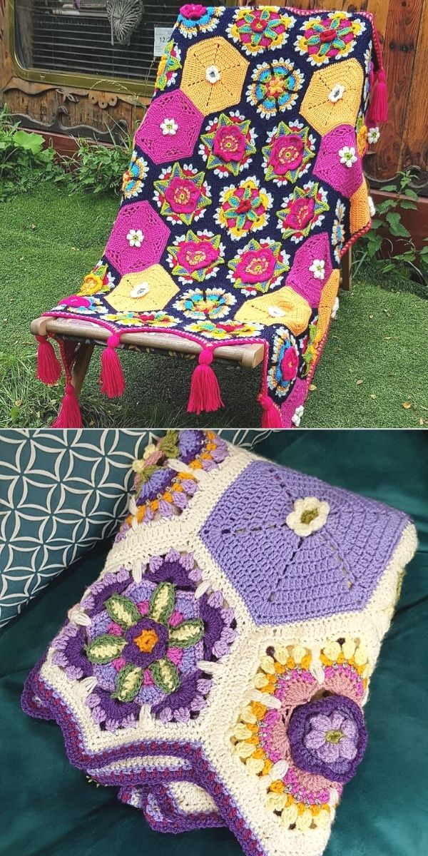Frida's flowers blanket_3