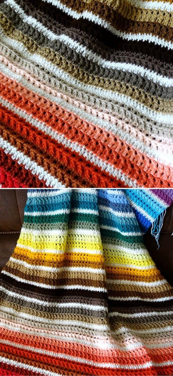 Jagged Scrap Yarn Afghan