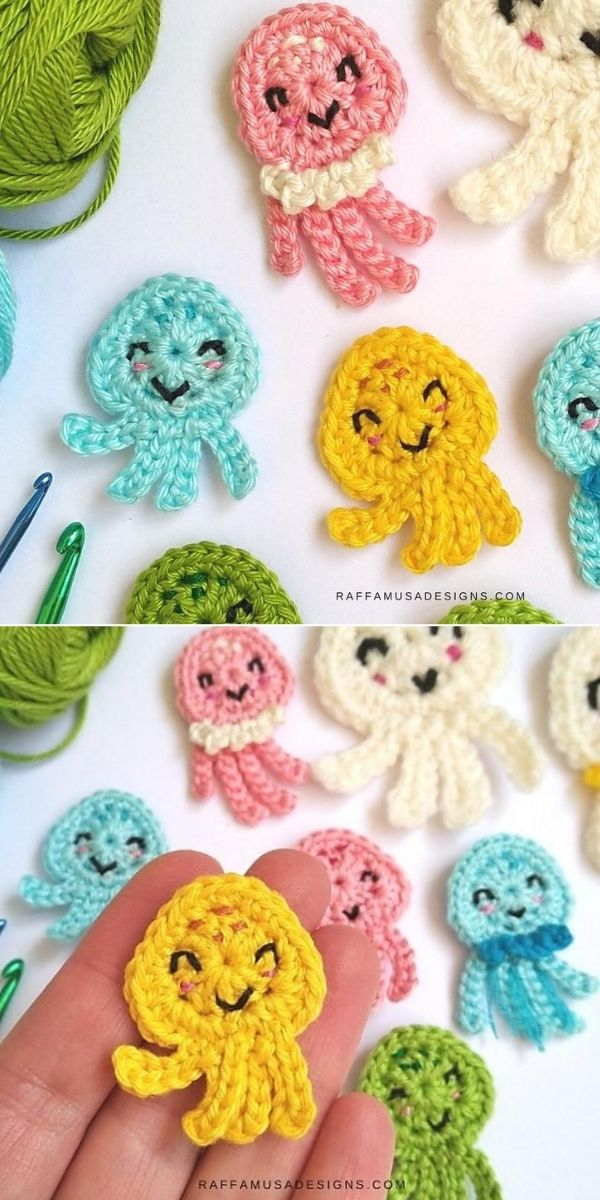 Jellyfish & Octopus Appliques
