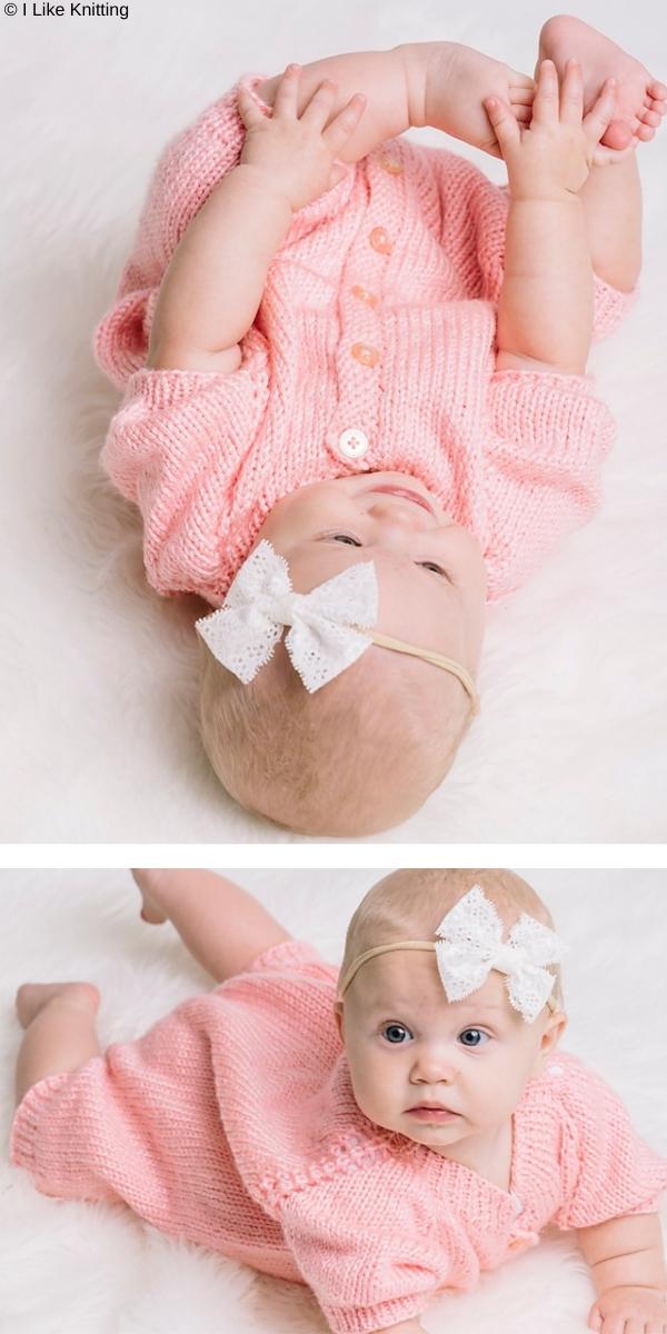 Rosalyn Baby Romper Free Knitting Pattern