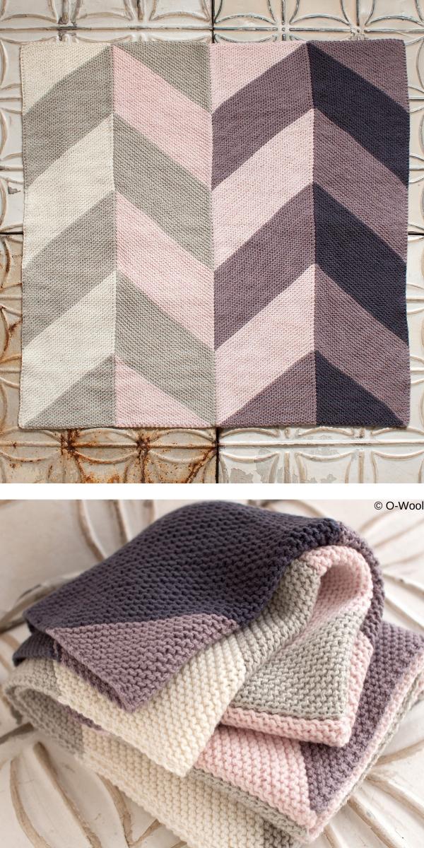 Garden House Baby Blanket Free Knitting Pattern