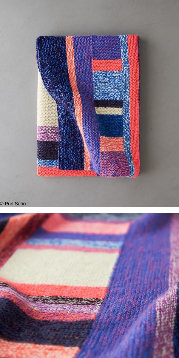 Library Blanket Free Knitting Pattern