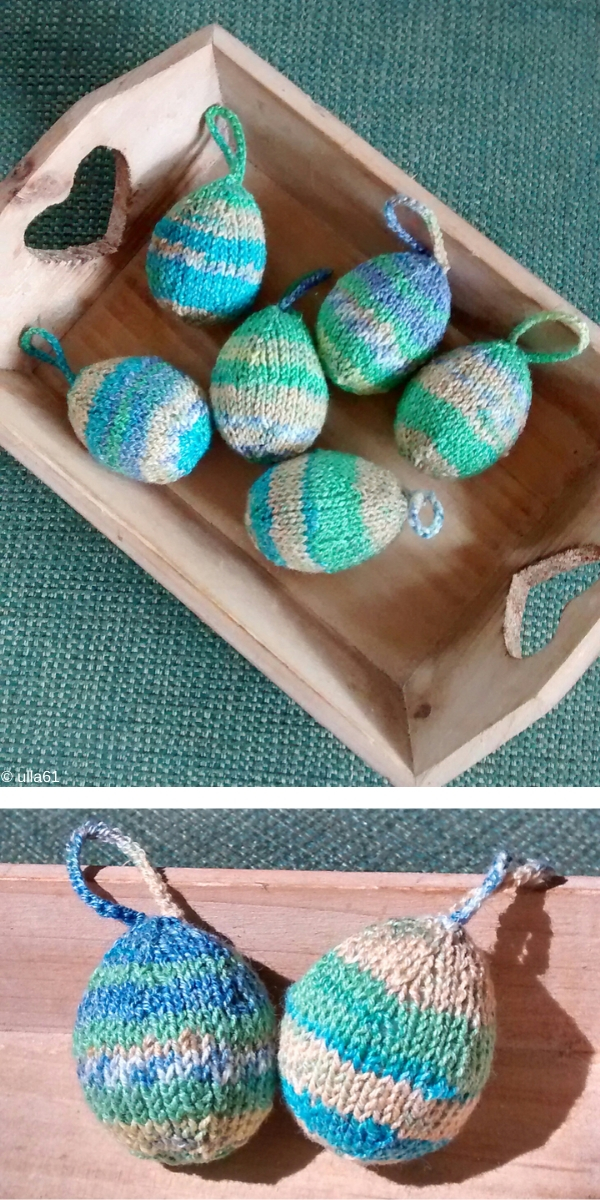 Knit Easter Egg Ornaments Free Knitting Pattern