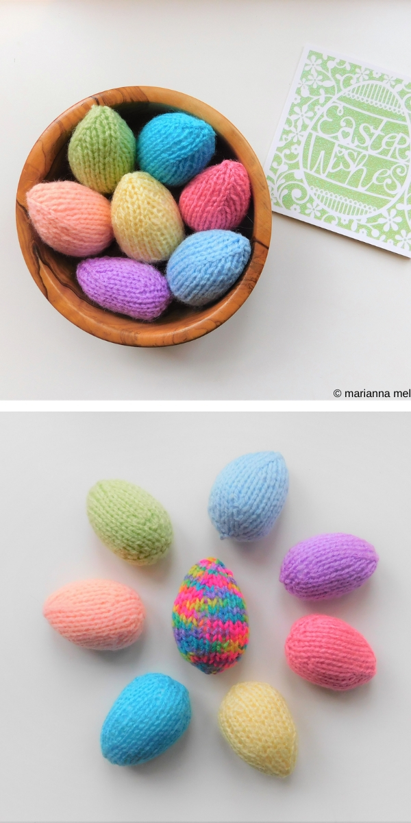 Quick & Easy Easter Eggs Free Knitting Pattern