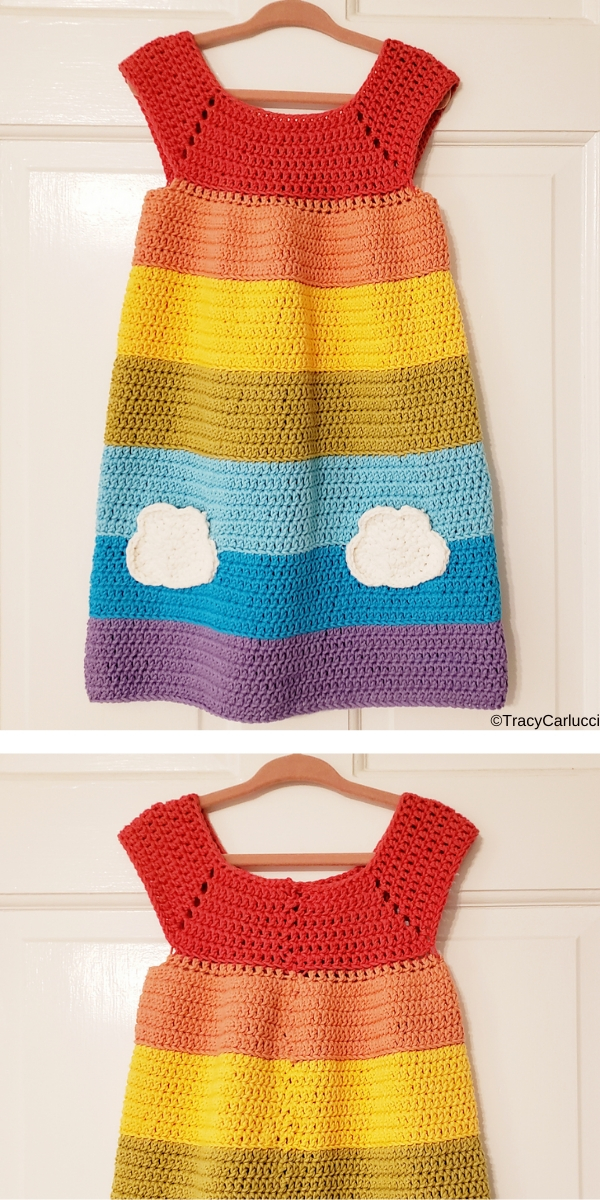 Rainbow Dress Free Crochet Pattern
